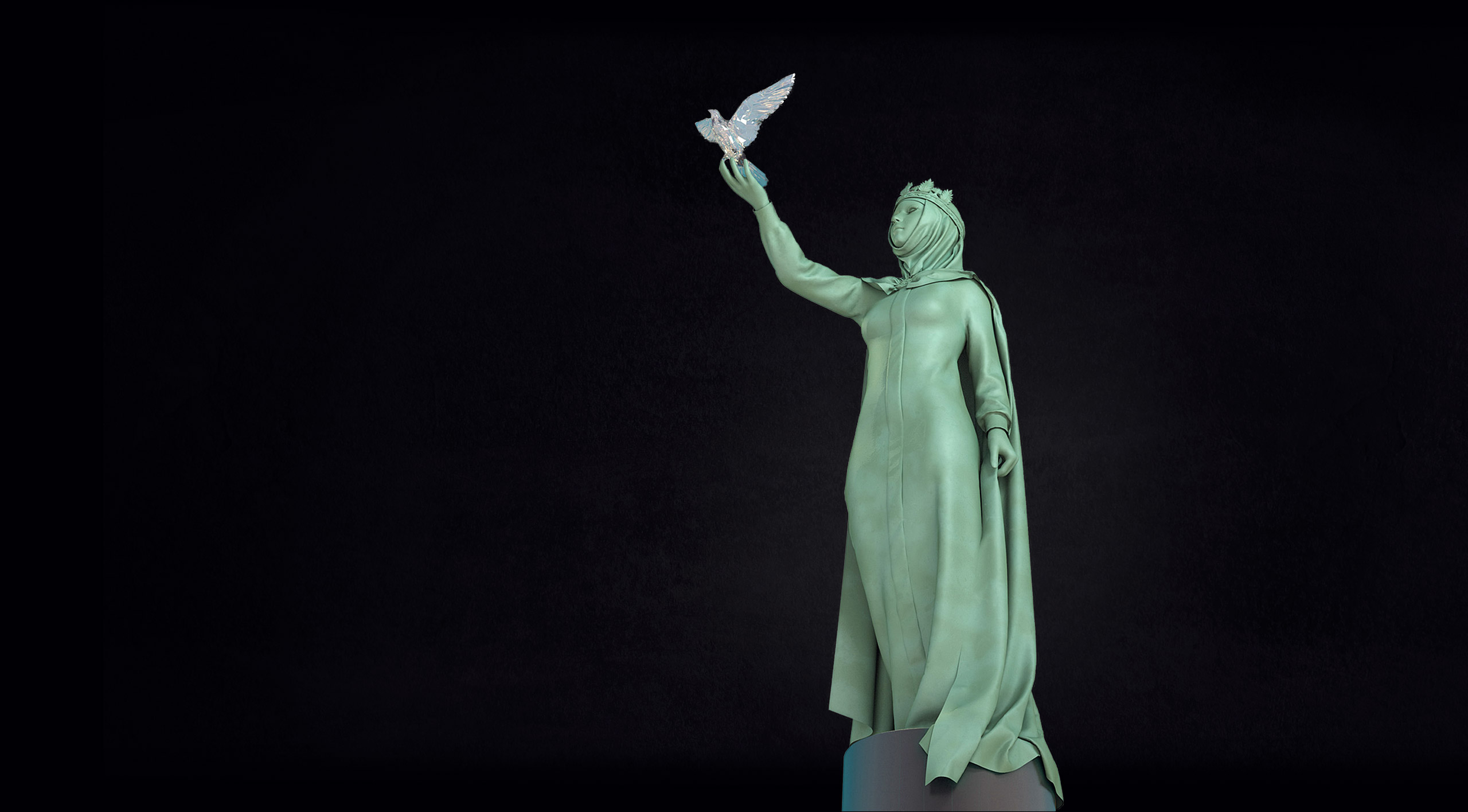 visualization of the monument 3D Saint Ekaterina Ekaterinburg